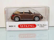 WIKING 002802 - 1:87 - VW The Beetle Cabriolet - toffeebraun métallique -