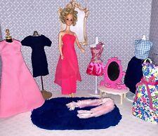 Vintage Barbie Twist & Turn Doll & Clothes Lot