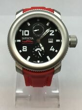 Invicta Sea Hunter 1984 Swiss 50mm Mens Watch. Poly-Red Band. St. Steel Case