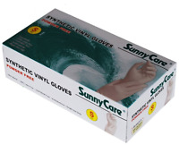 SunnyCare #7501 Powder Free Synthetic Vinyl Gloves (Latex Nitrile Free) Small
