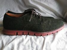 Mens GBX Black/Dark Olive Green Fabric Oxford Shoes Size Mens 13M