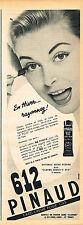 PUBLICITE ADVERTISING 035  1955 PINAUD 612   cosmétiques fard-creme pour cils