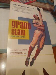 Old Time Baseball Player Advertisement- Grand Slam Sweepstakes