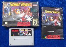 Stunt Race FX, OVP Anleitung, SNES, Super Nintendo Spiel