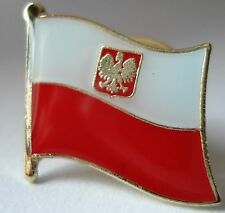 Poland / Polish  Flag Pin Badge  High Quality Gloss Enamel