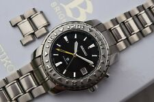 Serviced Seiko Brightz Limited Edition Kinetic Watch Titanium 5M65-0A70 GMT 2000