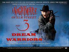 "A NIGHTMARE ON ELM STREET 3 DREAM WARRIORS repro UK quad poster 30x40"" FREE P&P"