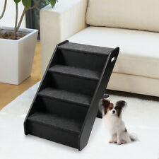 Pet Stairs 4 Steps Portable Cat Dog Play Ladder Step Ramp Climb Foldable Black