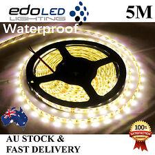 Waterproof 12V 5M Warm White 3528 SMD 300 LED Strips Led Strip Lights Car Boat
