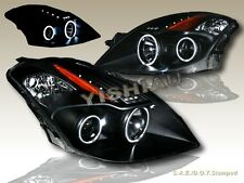 FIT FOR 2008-2010 ALTIMA TWIN CCFL HALO PROJECTOR LED HEADLIGHTS 2D BLACK COUPE