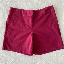 "Ann Taylor LOFT The Riviera Short  6"" Inseam Maroon Red Size 2 NWT"