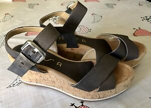 Ladies sandals wedge heel 5
