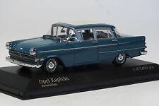 Minichamps Opel Kapitän P2.6 1:43, Bleu de bavière, Maquette de voiture, RARE