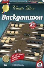 LOT 28471 Schmidt | 49230 Backgammon Spiel extra große Spielfiguren aus Holz NEU