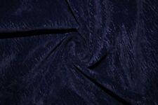 Crinkle Navy Microfiber Microsuede Suede Upholstery 100% Polyester Fabric BTY