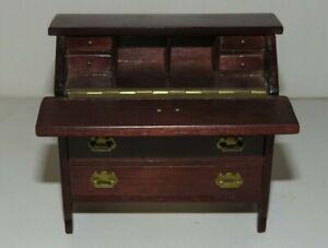 Miniature Dollhouse Sonia Messer Desk w 7 Drawers 1:12 Flip Top Secretary
