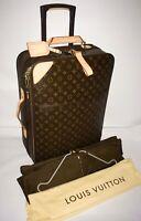 Louis Vuitton Pegase Carry on Classic Suitcase w/ Garment bag & Dustbag Strap