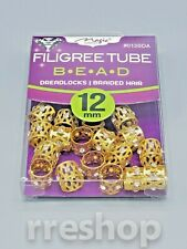 FILIGREE TUBE BEAD DREAD LOCKS BRAIDED HAIR (CHOOSE YOUR COLOR)