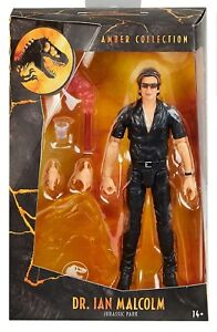 Jurassic Park Dr. Ian Malcolm Amber Collection Figure Mattel BRAND NEW SEALED 🦖