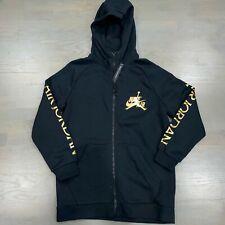 Nike Air Jordan Jumpman DMP Classic Black Gold Full-Zip Hoodie CK2223-011 Men's