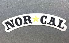 Nor Cal Nautical Sticker Norcal 7.5in black/clear si