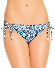 Blue Mutli X-LARGE Jessica Simpson SIDE TIE LOOP Bikini Swimsuit Bottom NEW!