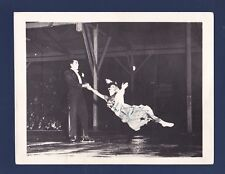 Genevieve Norris signed 1940's Ice skating original photo with partner Bob Payne