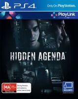 NEW Sony Hidden Agenda Playstation 4 PS4 Playlink BRAND NEW SEALED