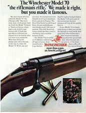1977 Print Ad of Winchester Model 70 the rifleman's rifle
