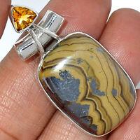 15g Schalenblend - Sphalerite Wurtzite Pyrite 925 Silver Pendant Jewelry AP42640