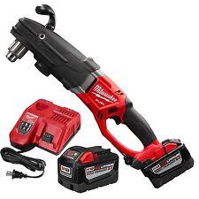M18 Fuel Super Hawg Right Angle Drill 2 9.0 Batts Milwaukee 2709-22HD New
