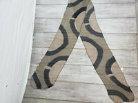 "NWT $115 Boutique Brown Black Striped Scarf 96 x 10.5"" Silk Sheer Lightweight"