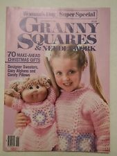 000 Vintage WOMAN'S DAY GRANNY SQUARES & NEEDLEWORK  MAGAZINE ---1985 Super Spe