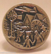 ❤James Avery Retired 925 Sterlng Silver Pioneer Settler Tie Tac Lapel Pin Rare❤