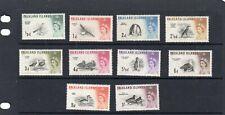 QEII FALKLAND ISLANDS 1960 BIRDS PART SET LMM SG;193 / 202