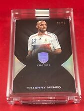 THIERRY HENRY - 2018 EMINENCE Soccer BASE AUTOGRAPH #/10 -- AUTO -- FRANCE