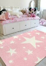 SchwabenKids® Happy Rugs Kinderteppich Sterne Teppich Spielteppich 80x150 rosa