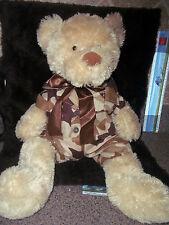 "Teddy Bear 21"" Anico Int'l Plush SOFT BUDDY W/Build a Bear-Military Camo Outfit"