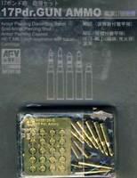 Afv Munition 17Pdr. Pistolet Ammo Obusier de Campagne Howitzer 1:3 5 Métal