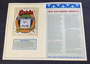 Willabee & Ward Lost Treasures Of Baseball Collection 1991 Baltimore Orioles