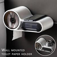 Porte-rouleau papier toilette tiroir salle bain mural étanche boîte support DE