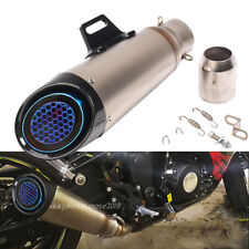 51mm Universal Motorcycle Exhaust Muffler Real Carbon Fiber Pipe For Z900 17-19