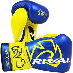 Rival Boxing RFX-Guerrero Lace Up Sparring Gloves P4P Edition - Blue/Yellow