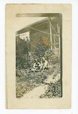 Garden Boys RPPC Amsterdam NY Antique Photo—Montgomery County 1911