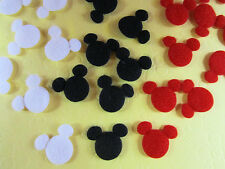 "60 Felt Mouse Head 1/2"" Applique/Craft/Baby/sewing/trim/Mickey Bow L16-A"