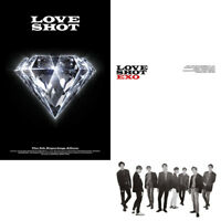 EXO [LOVE SHOT] 5th Repackage Album CD+POSTER+Photo Book+Photo Card+GIFT SEALED
