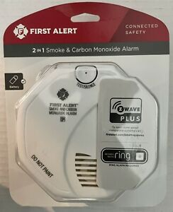 First Alert Z-Wave Smoke and Carbon Monoxide Alarm - Compatible w/ Ring Security