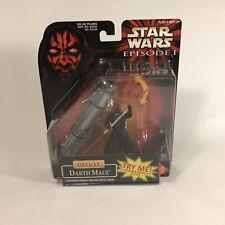 Deluxe Darth Maul Action Figure Lightsaber Star Wars Episode 1 Hasbro 1998 Rare