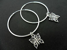 Silver Plated Hoop Costume Earrings