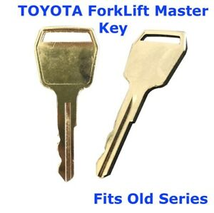 TOYOTA ForkLift Master Plant Equipment Key fits Old Series Toyota Forklifts